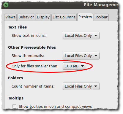 File Management Preferences