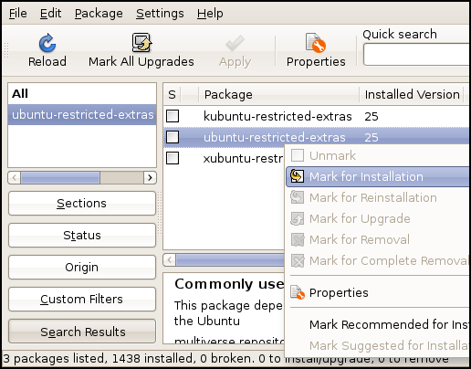 Install the ubuntu-restricted-extras package