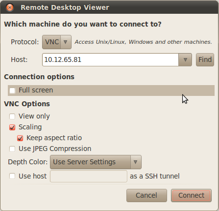Remote Desktop Viewer settings