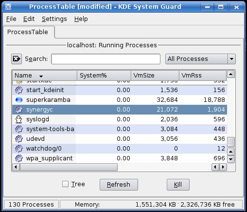 The KDE Process Monitor
