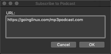 iTunes URL dialog